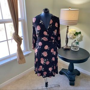 torrid Dresses - Torrid Floral Dot Jersey Wrap Dress NWT Size 4X